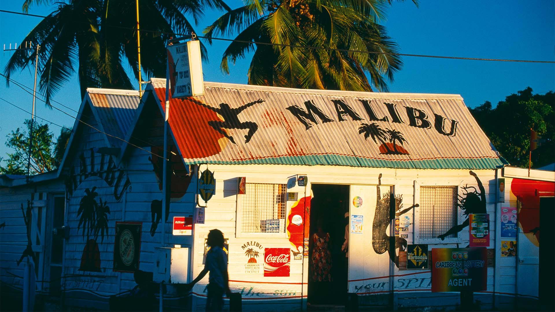 A rum shack in Barbados