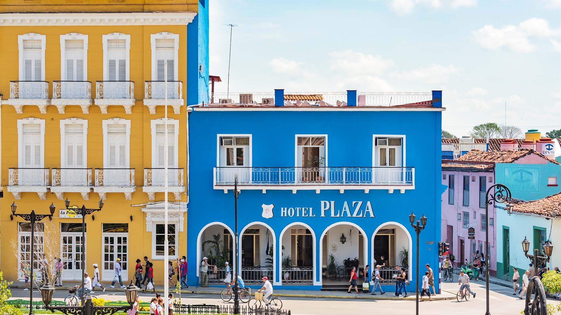 A hotel and square in Cuba