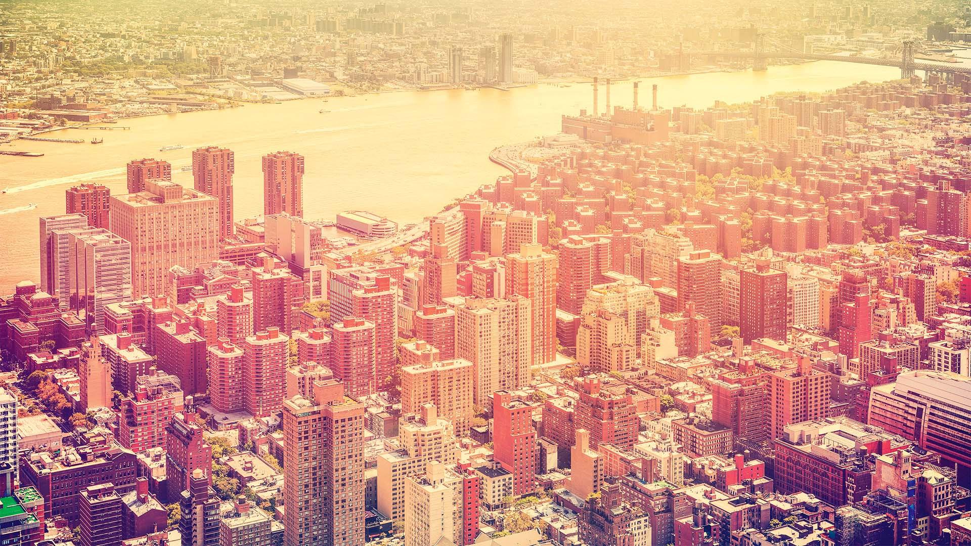 new york skyline with hudson river