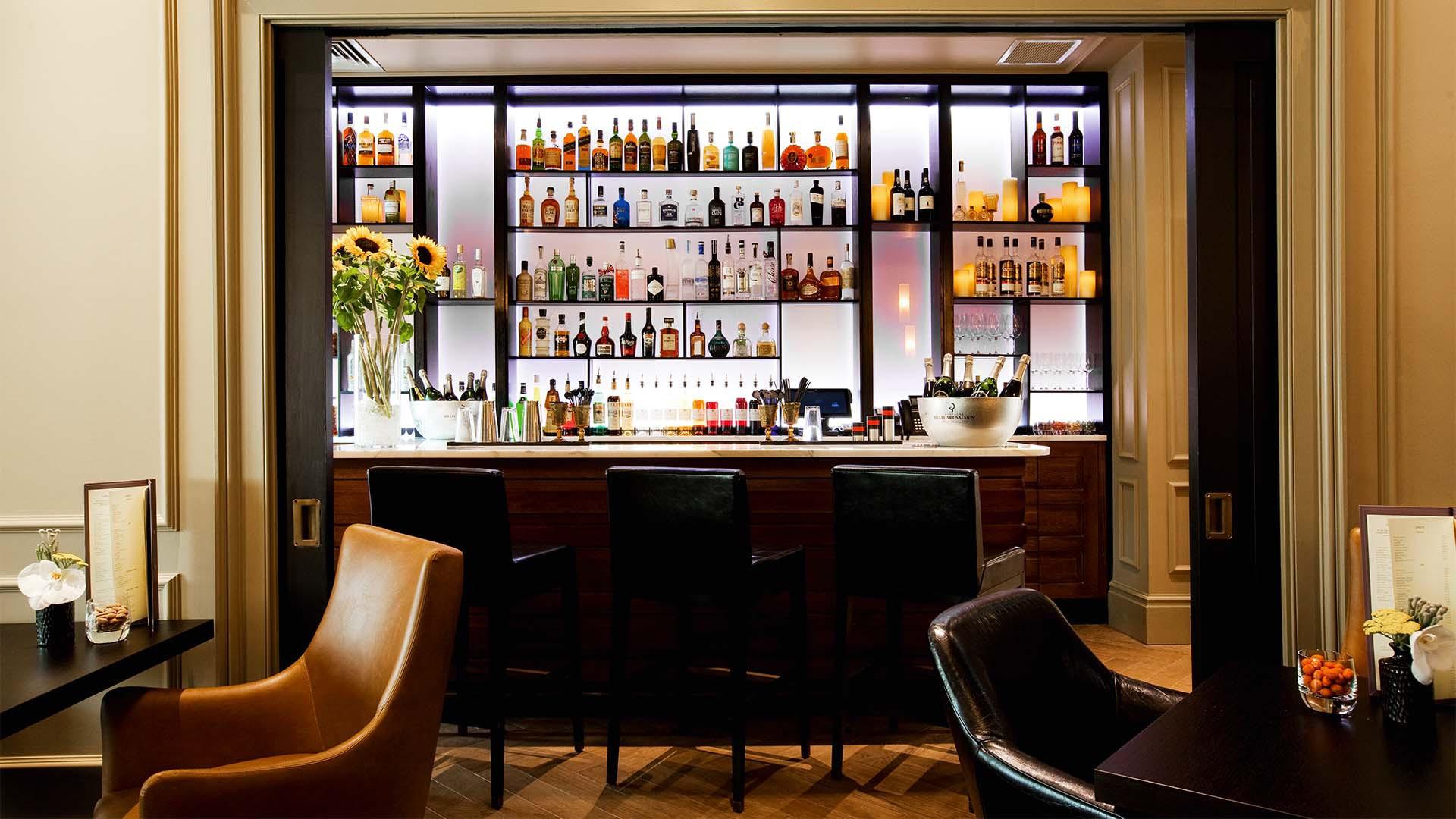 the bar at the Gainsborough