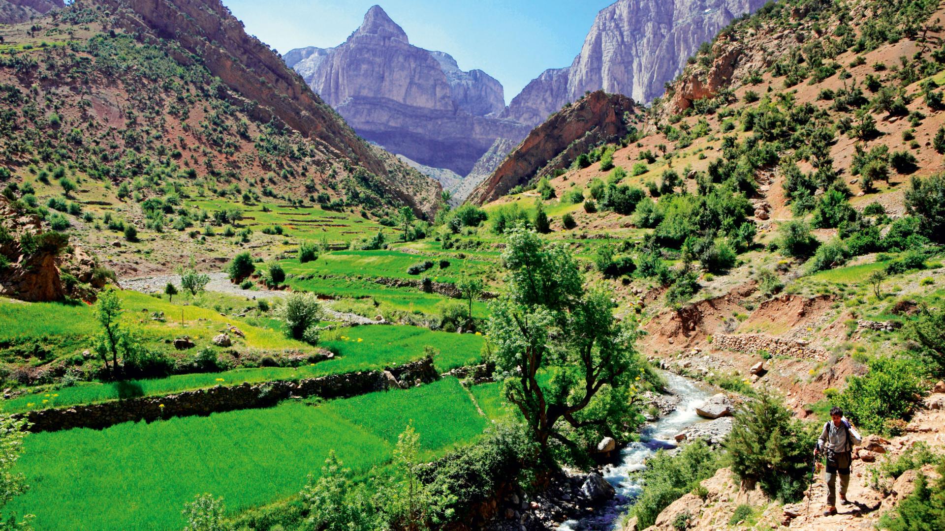 Exceptional views across the Atlas mountains, Morocco