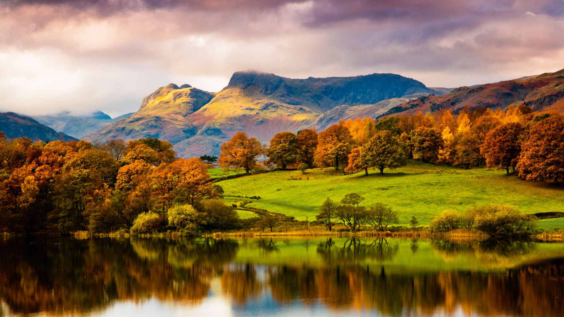 Lake views and rusty leaves in Cumbria