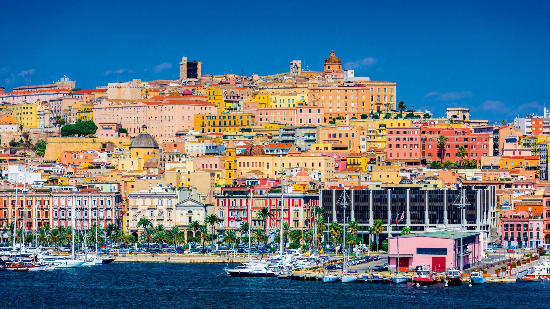 The colourful Sardinian coastline