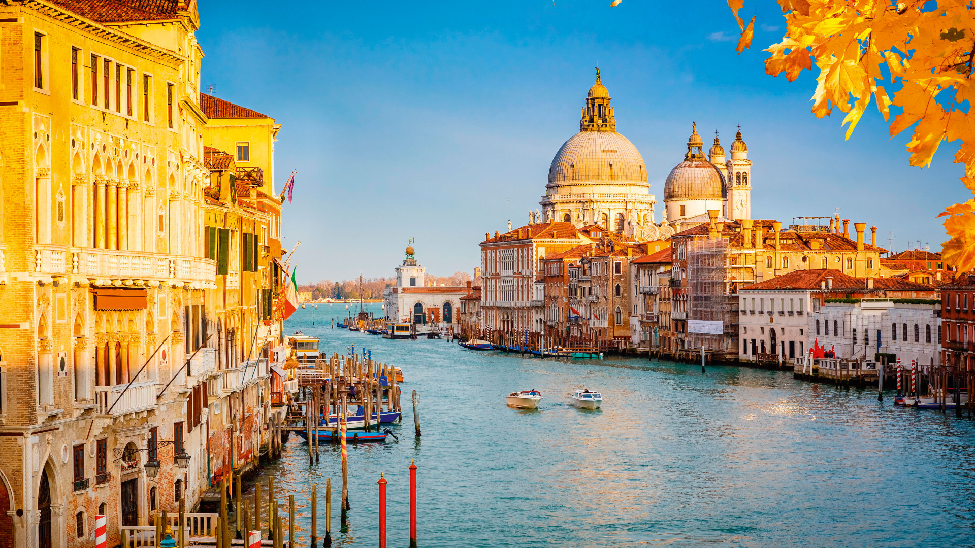 Autumnal view of the Grand Canal, Venice