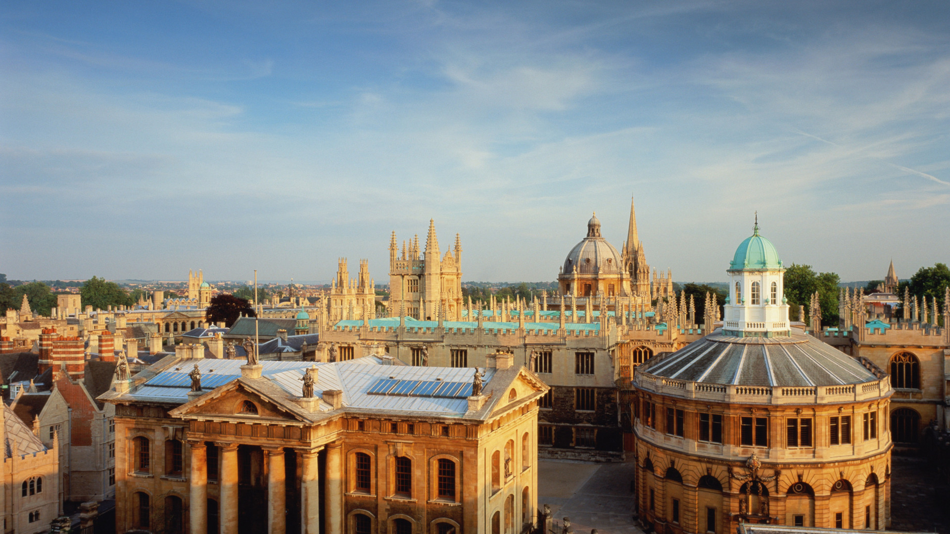 The rooftops of Oxford