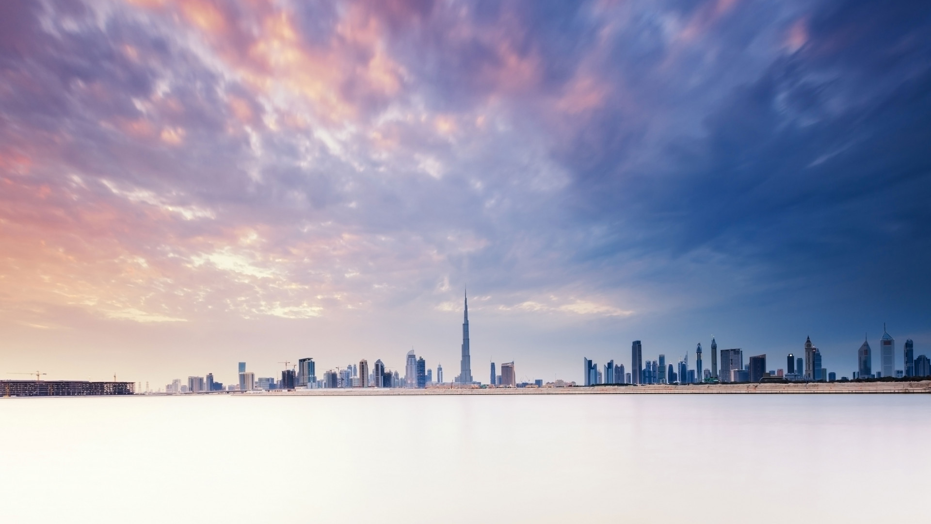Dubai skyline from Arabian gulf