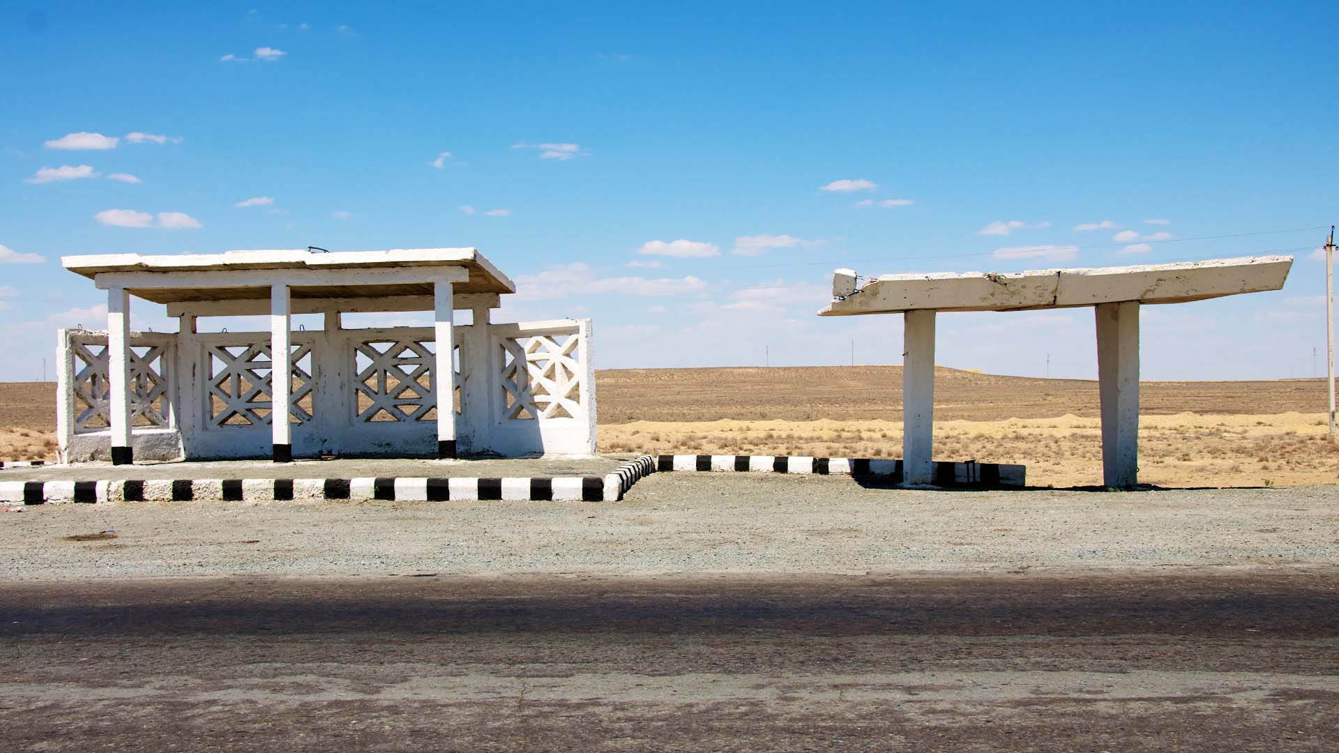 Uzbek Silk Road bus shelter