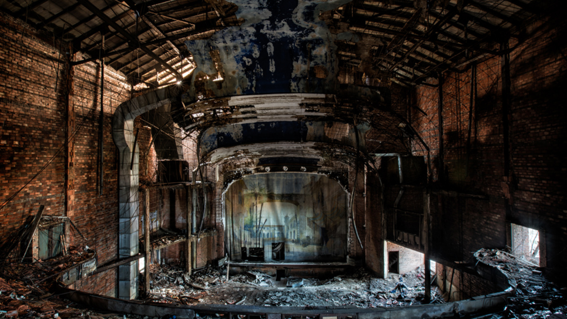 Decayed interior of Palace Theatre, Gary, Indiana, USA