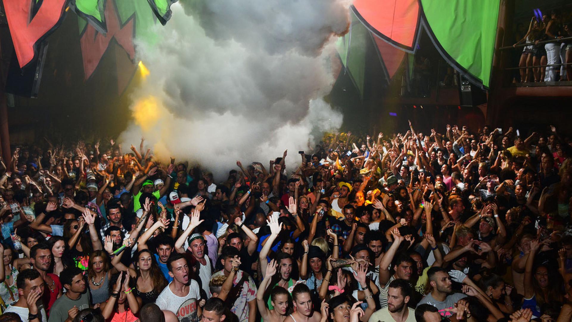 Revellers at Amnesia, Ibiza
