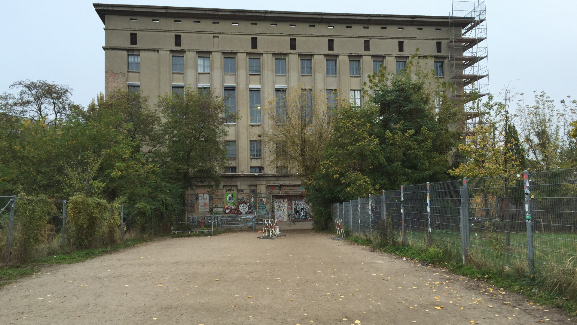 Exterior of Berghain club in Berlin