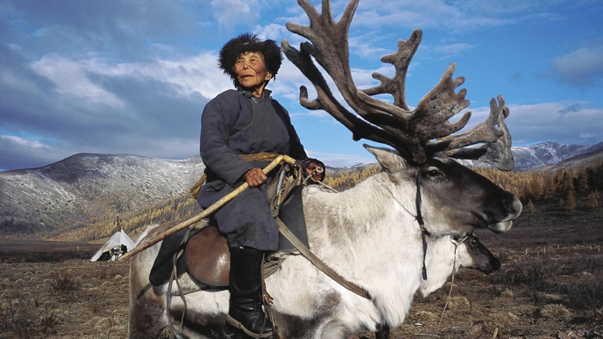 Shaman matriarch in West Taiga, Mongolia