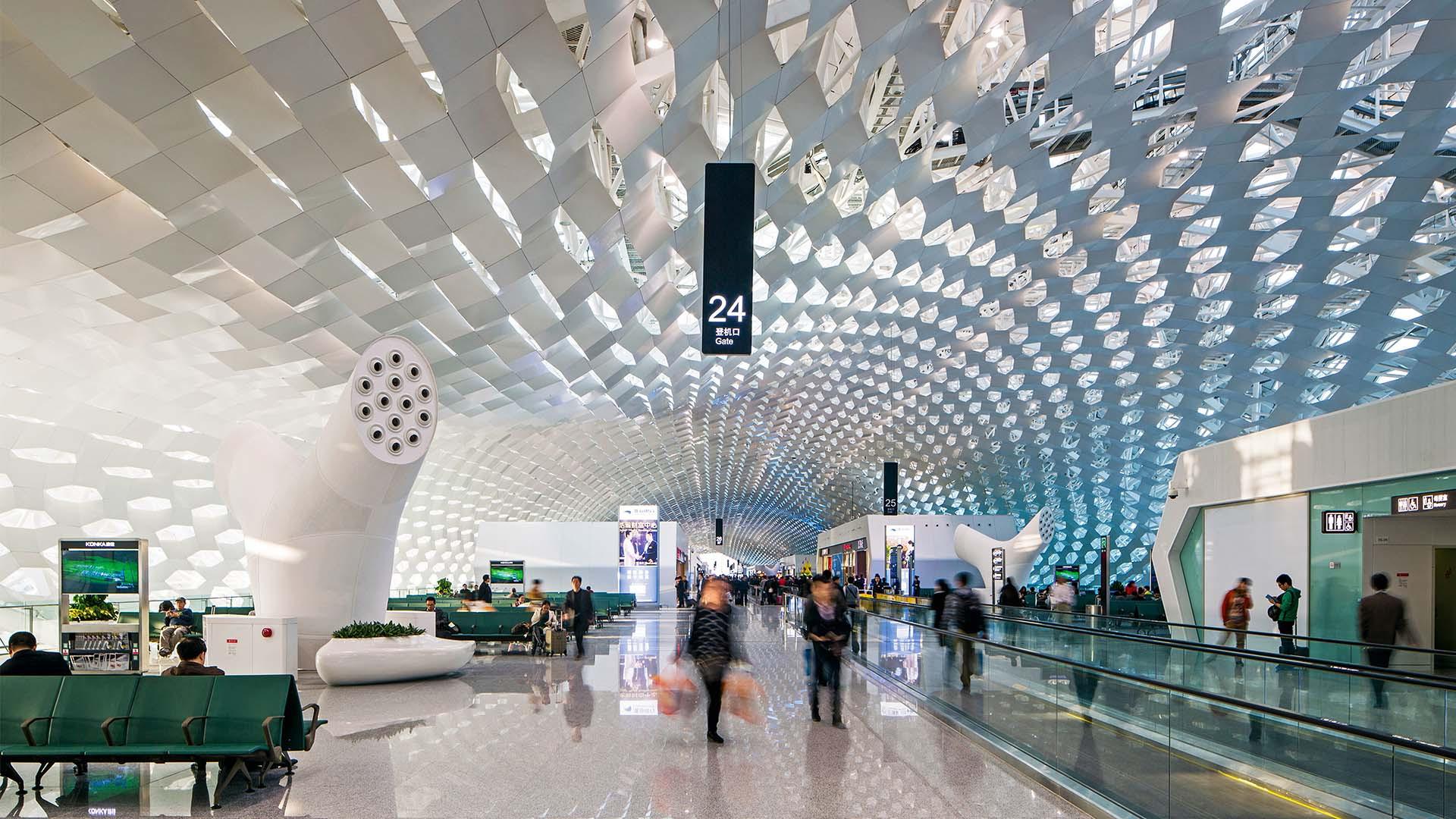 Concourse at Shenzen Bao'an Airport, Guangdong, China