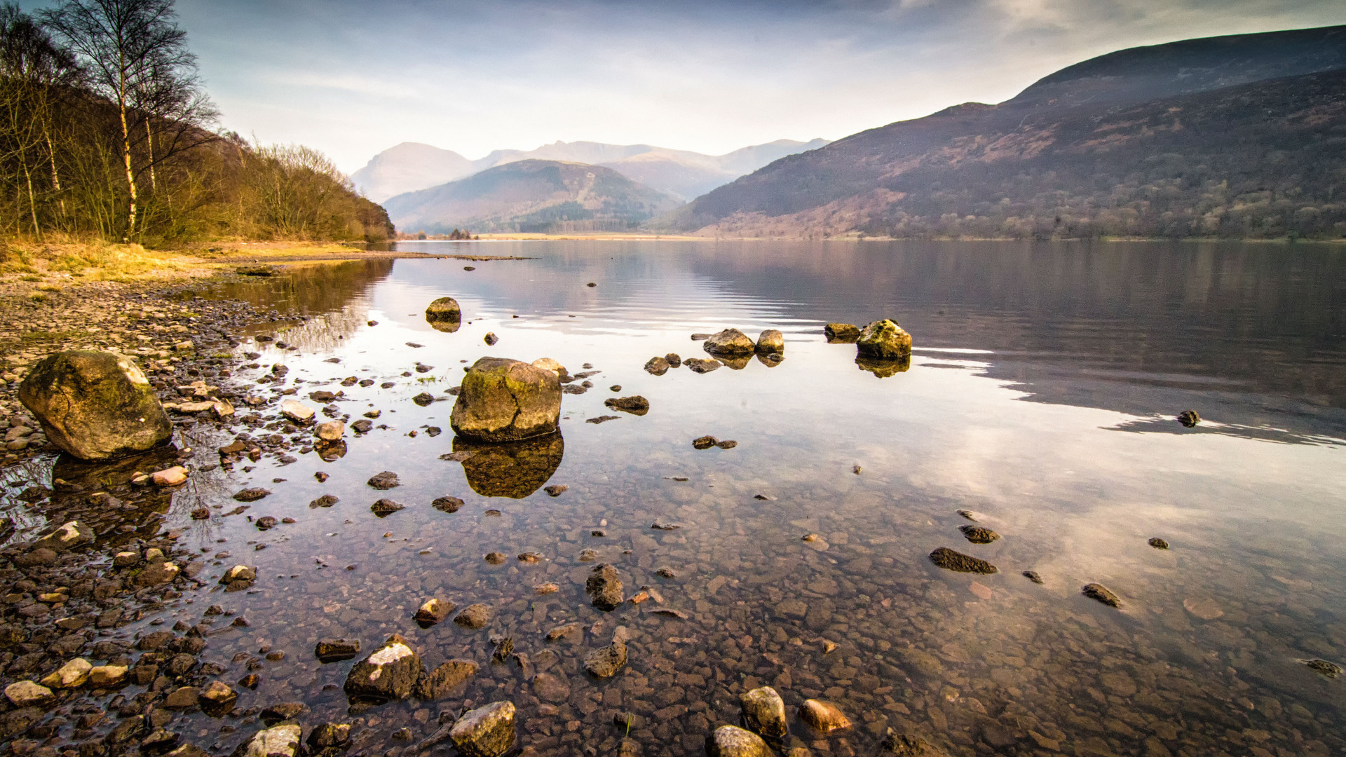 View to the hills over Ennerdale water