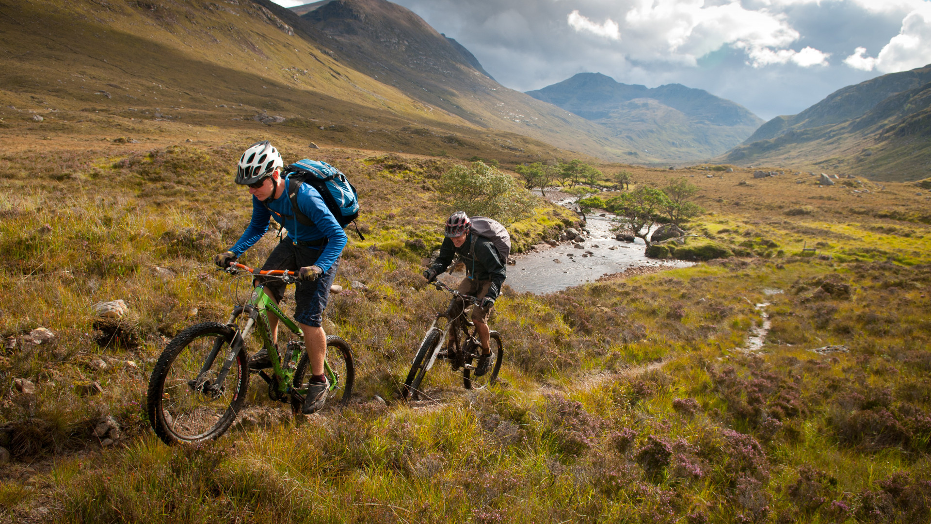 Mountain biking in the hills of Scotland