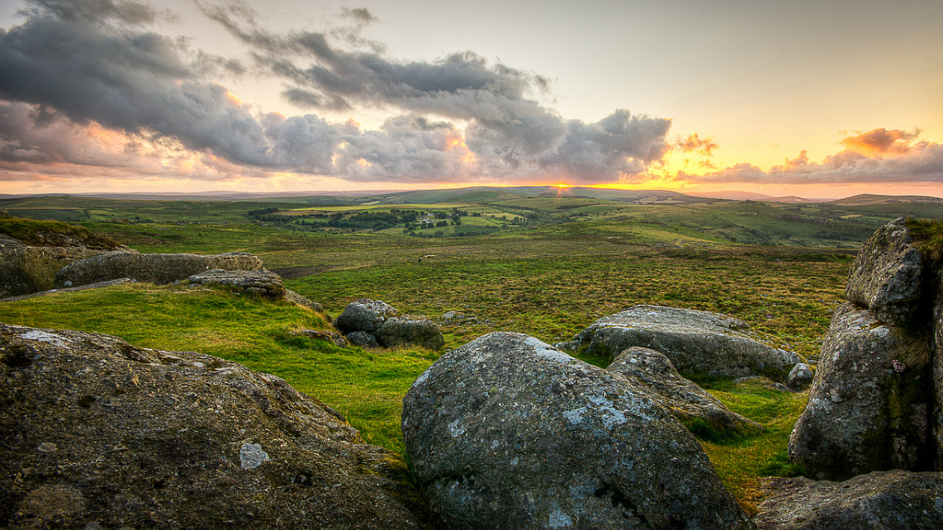 Sunset at Dartmoor, Devon