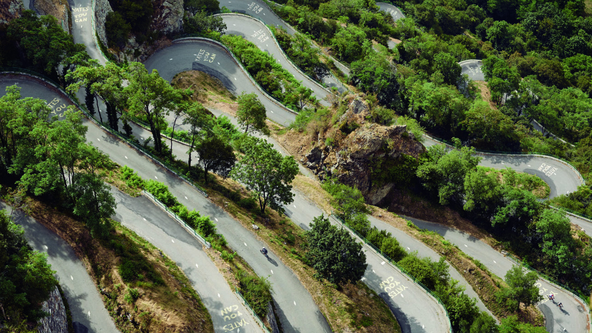 Hairpin bends on an alpine pass in France
