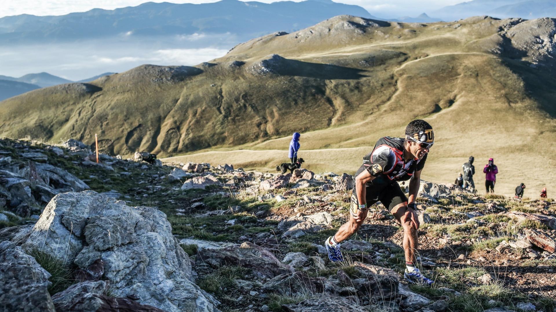 Runner taking on the Ultra Pirineu race in Spain