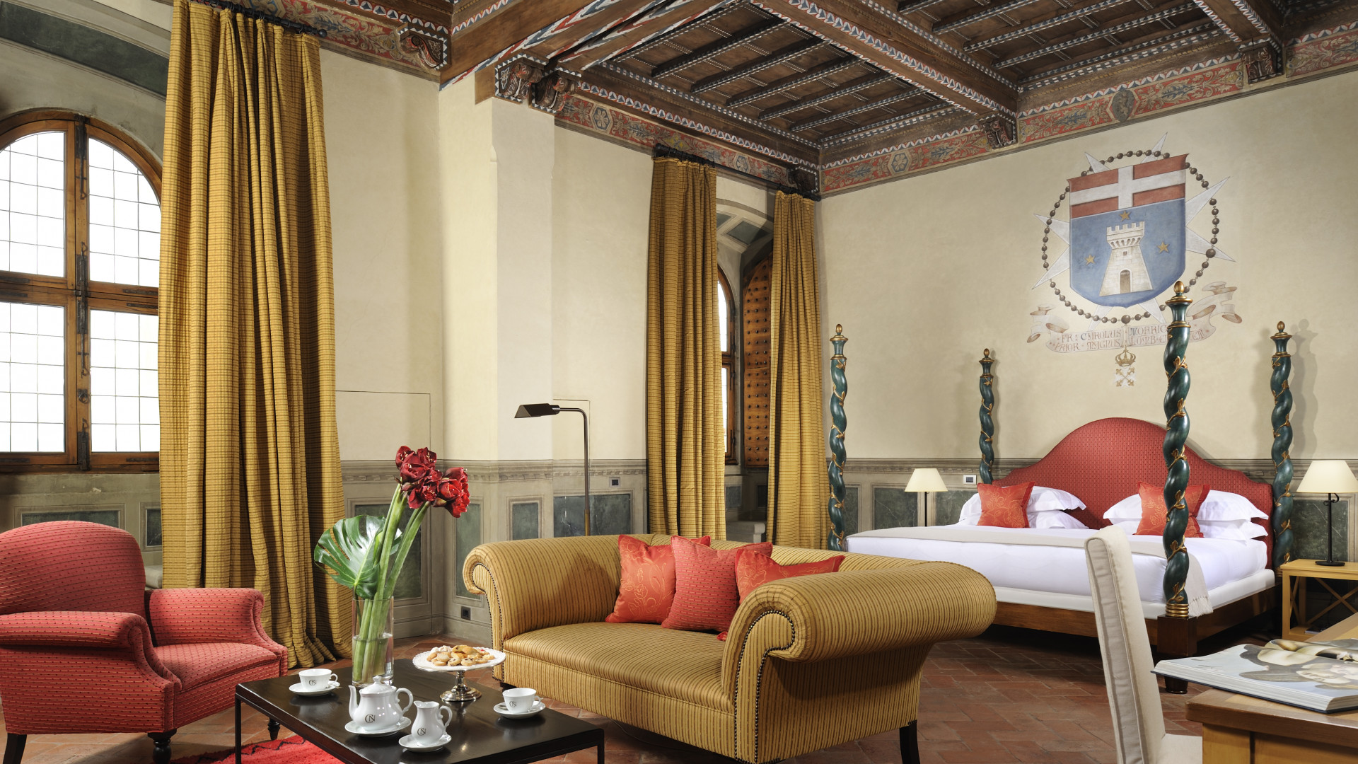 A superior suite at Castello del Nero