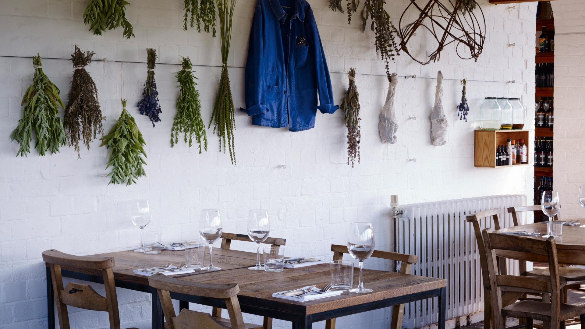 Inside the Ethicurean restaurant