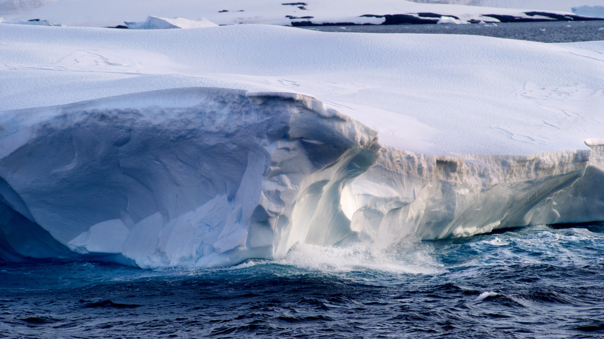 A collapsing ice shelf in Antarctica