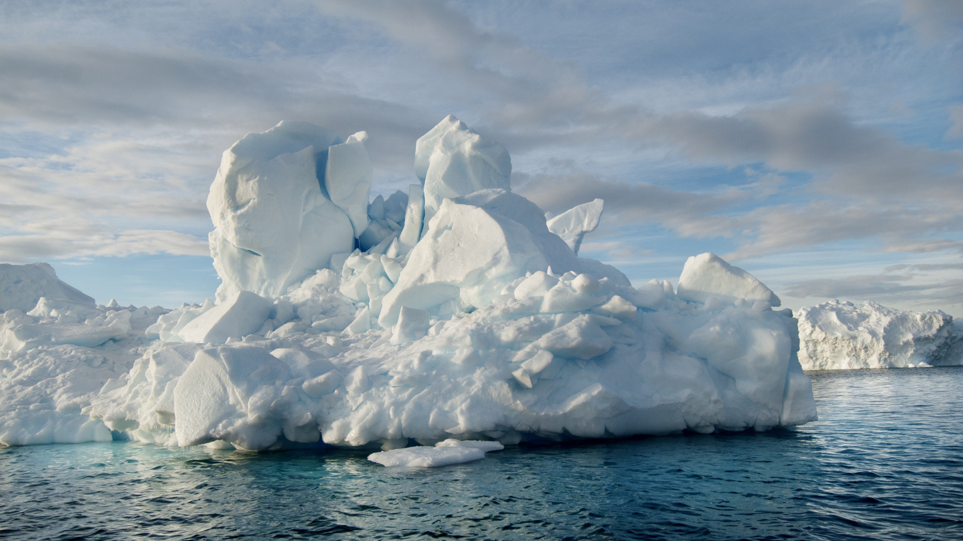 An ice stack in Antarctica