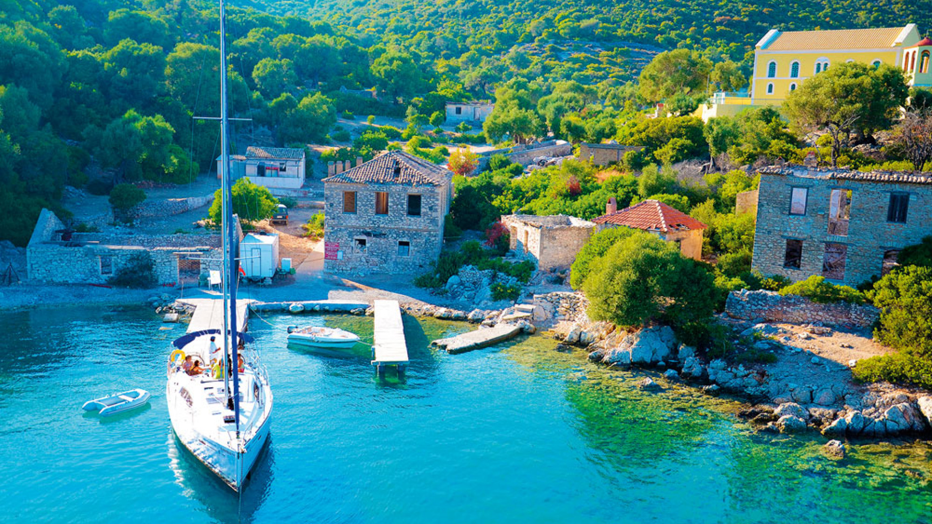 Sailing holidays in the Greek islands of Kioni, Kastos and Kalamos
