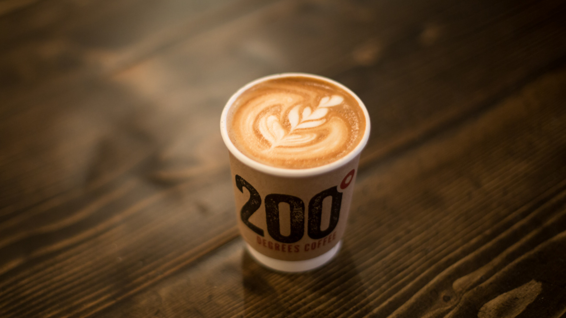 A flat white at 200 Degree café and roastery, Nottingham