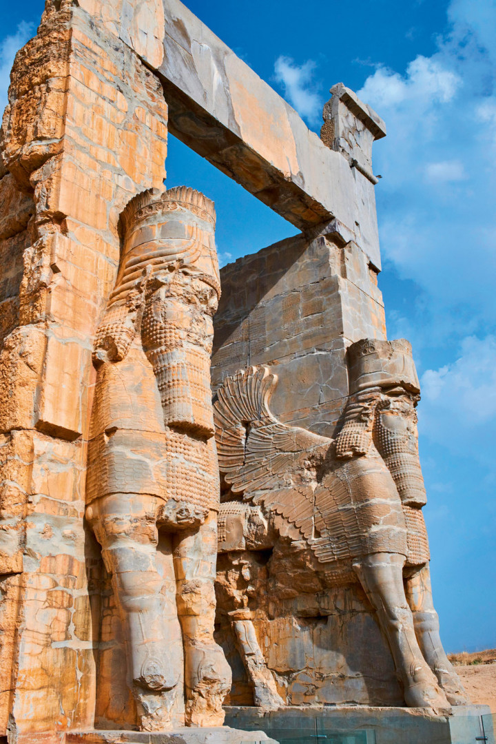 The Gate of All Nations, statues in Persepolis, Iran