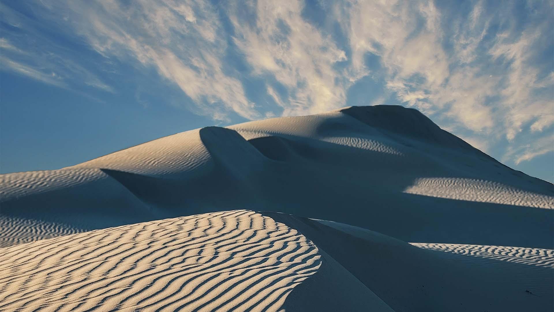 The sand dunes of Porto Pino, Sardinia