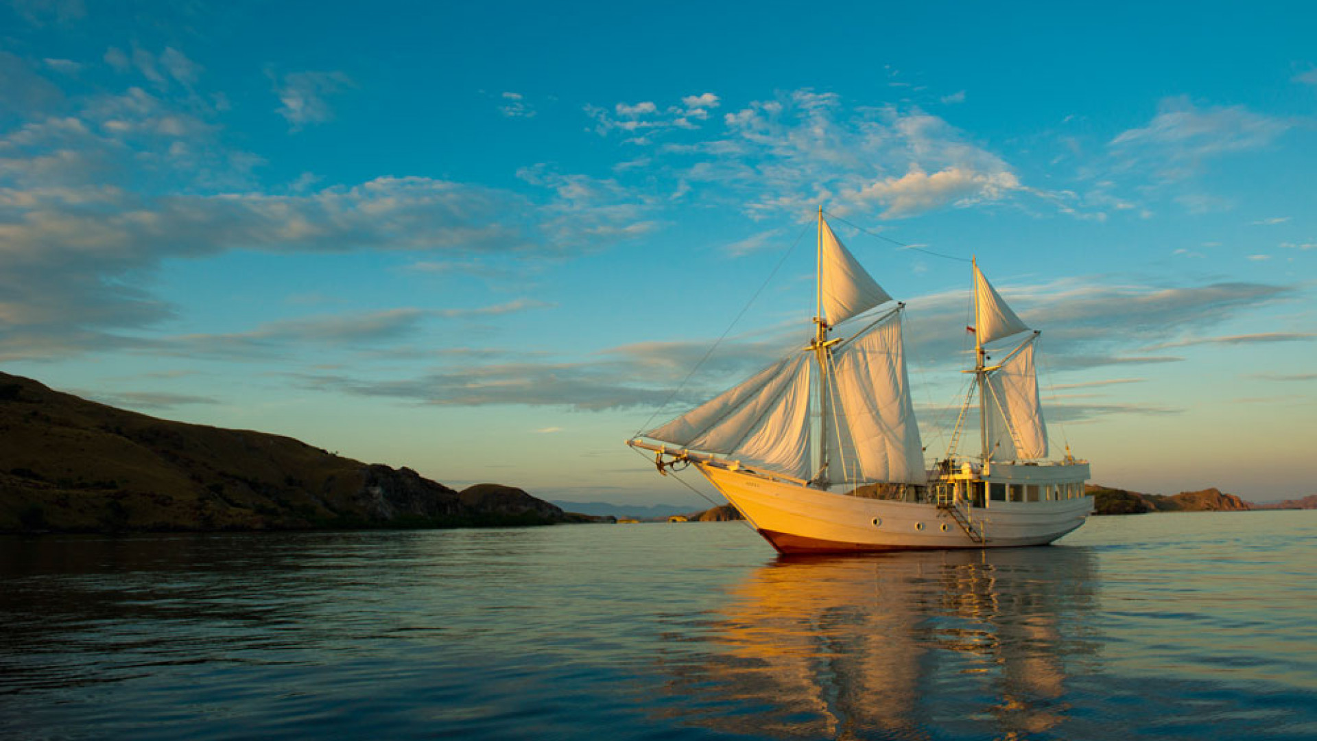 A phinisi yacht in Indonesia