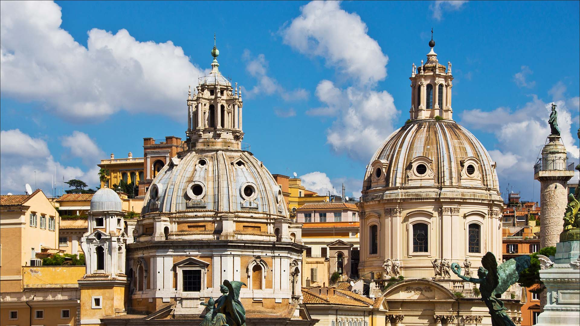 Domes in Rome, Italy
