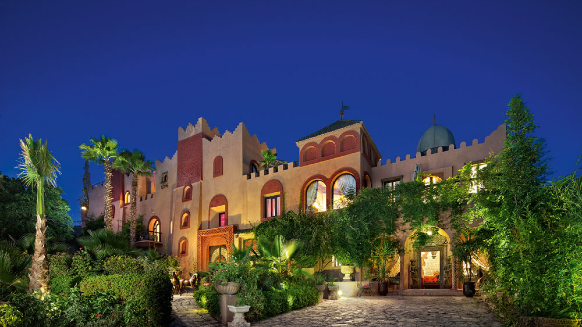Kasbah Tamadot in the Moroccan Atlas Mountains