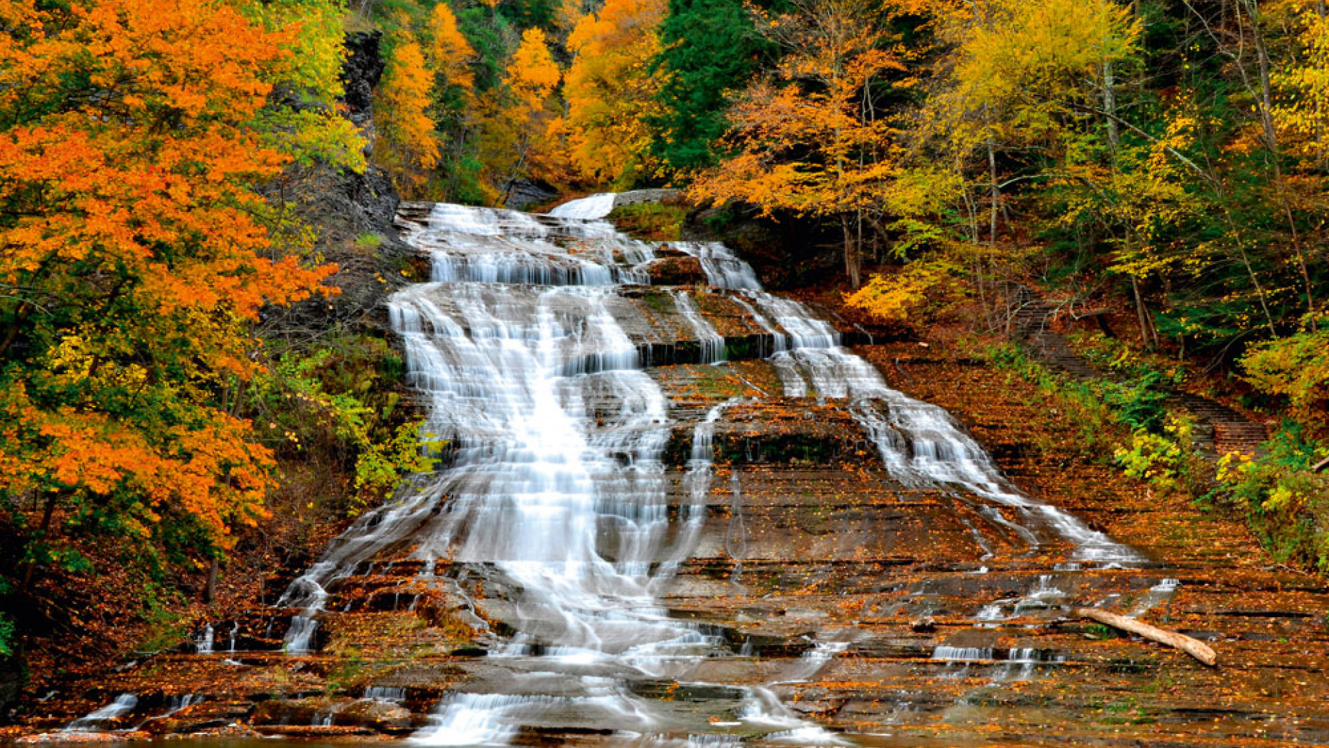 Buttermilk Falls State Park, Finger Lakes, New York State