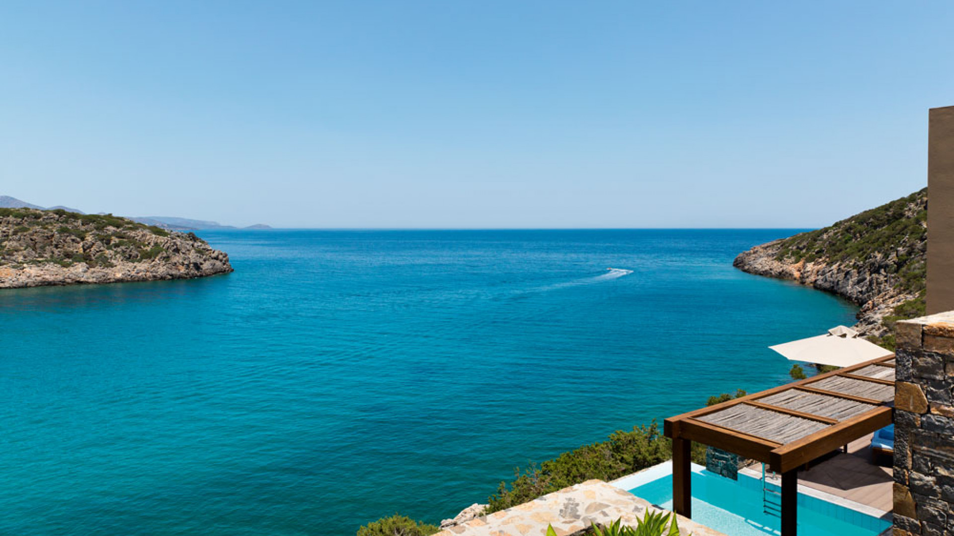 Aegean sea views from a villa at Daios Cove