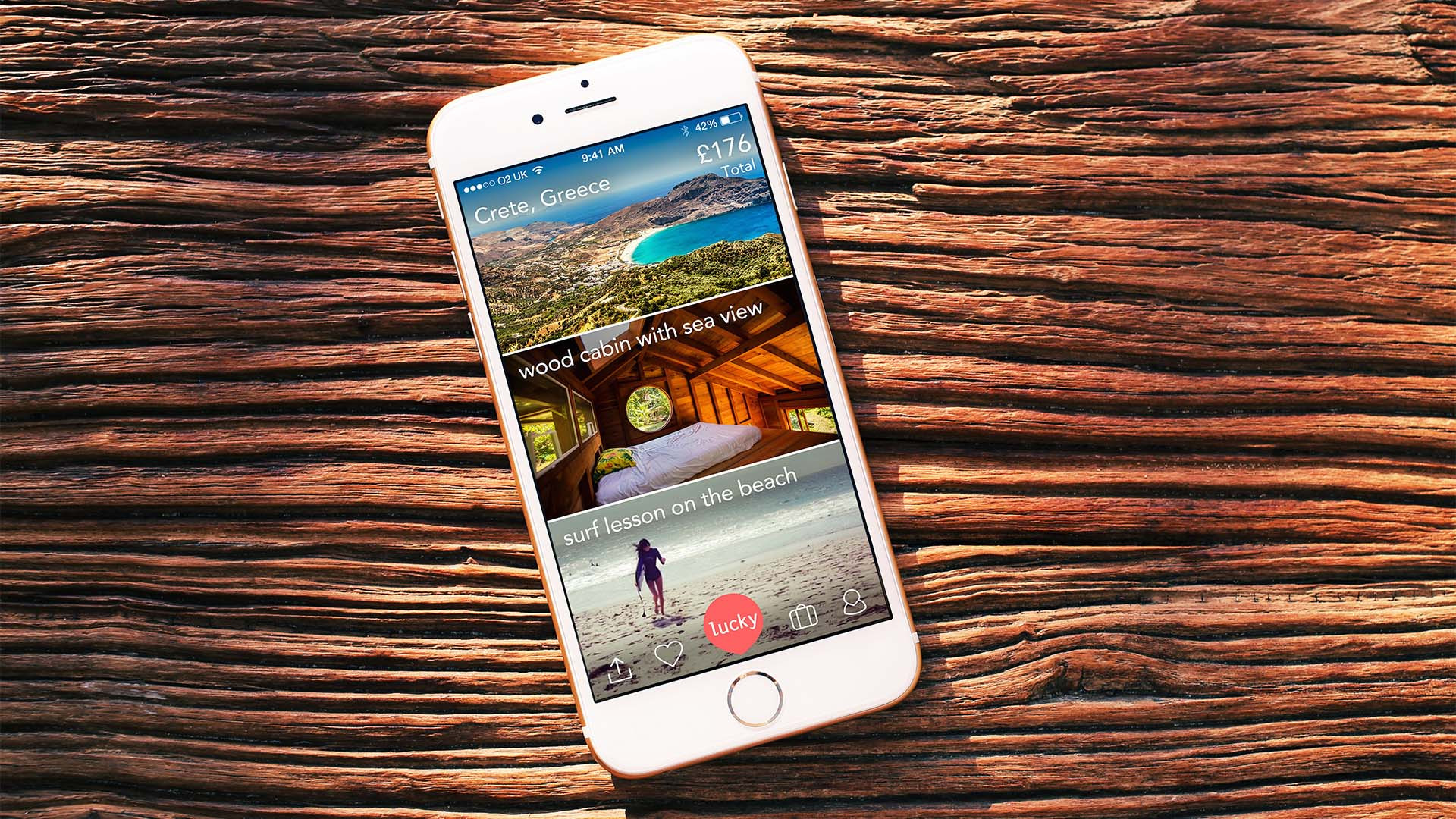 LuckyTrip travel app for Iphone