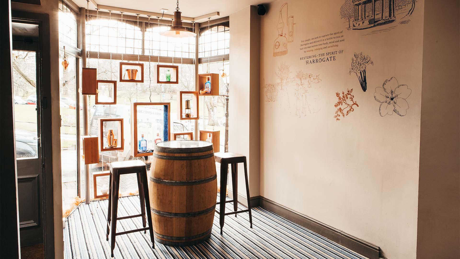Slingsby distillery tasting room