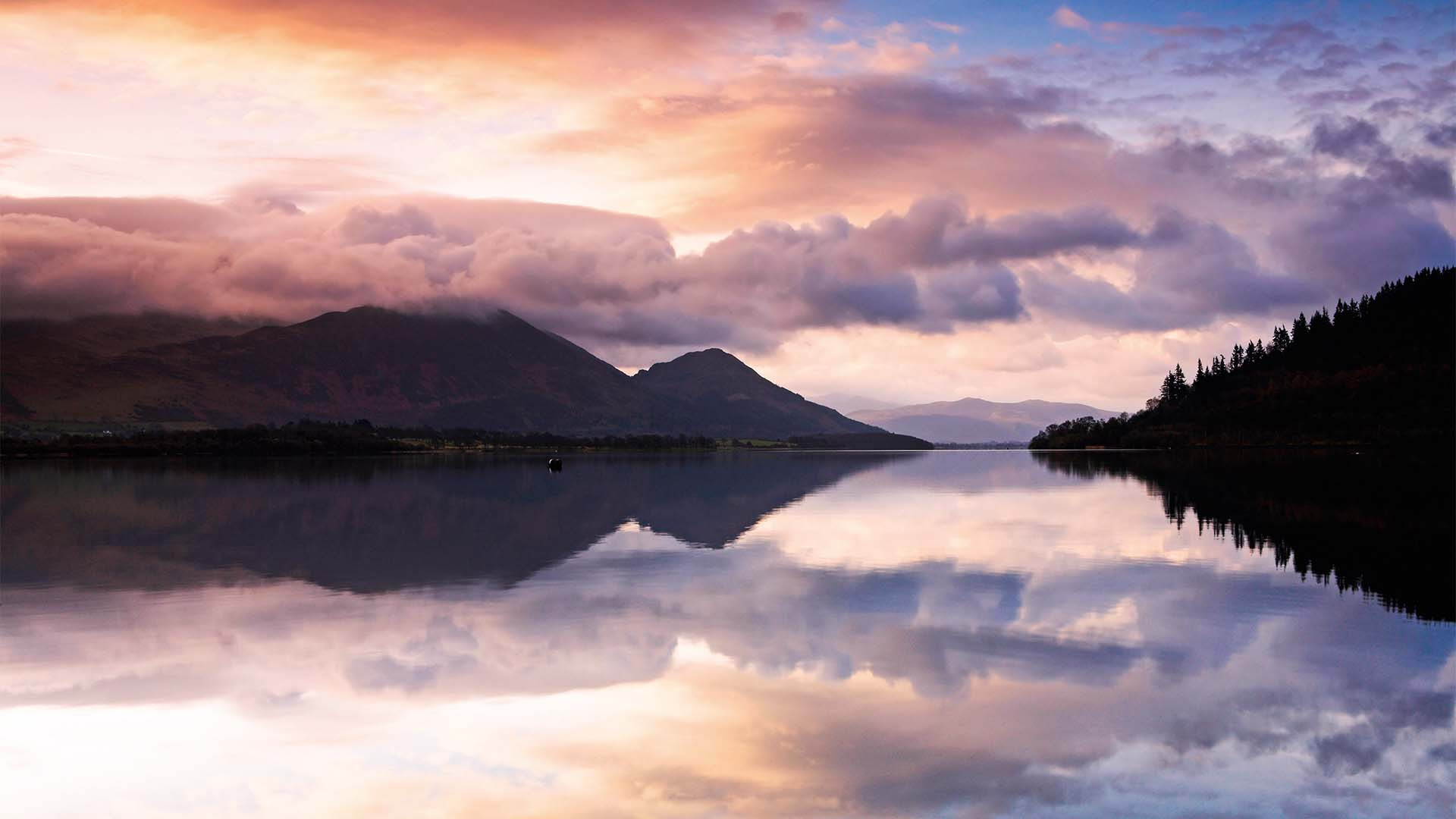 Bassenthwaite Lake from Lakes distillery, Cumbria