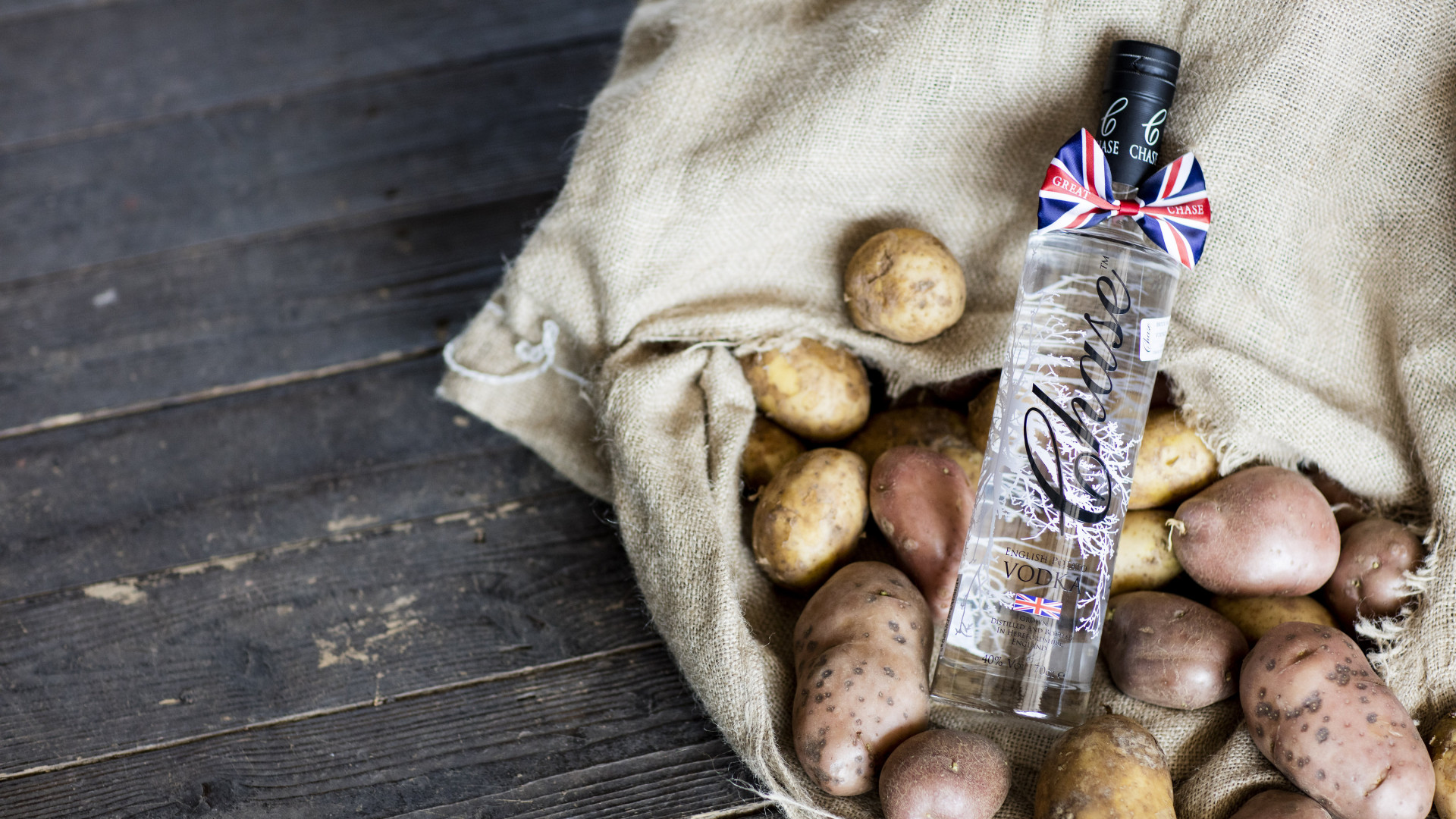 Bottled Chase potato Vodka at their distillery in Hereford