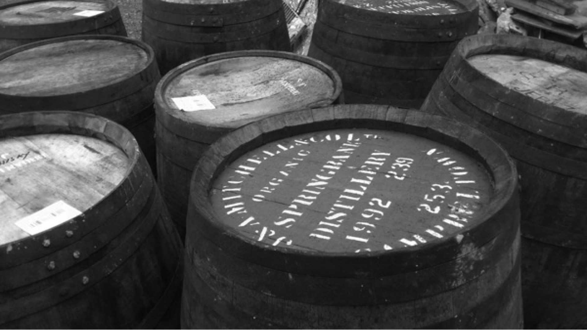 Barrell-ageing whiskey at Da Mhile, Wales