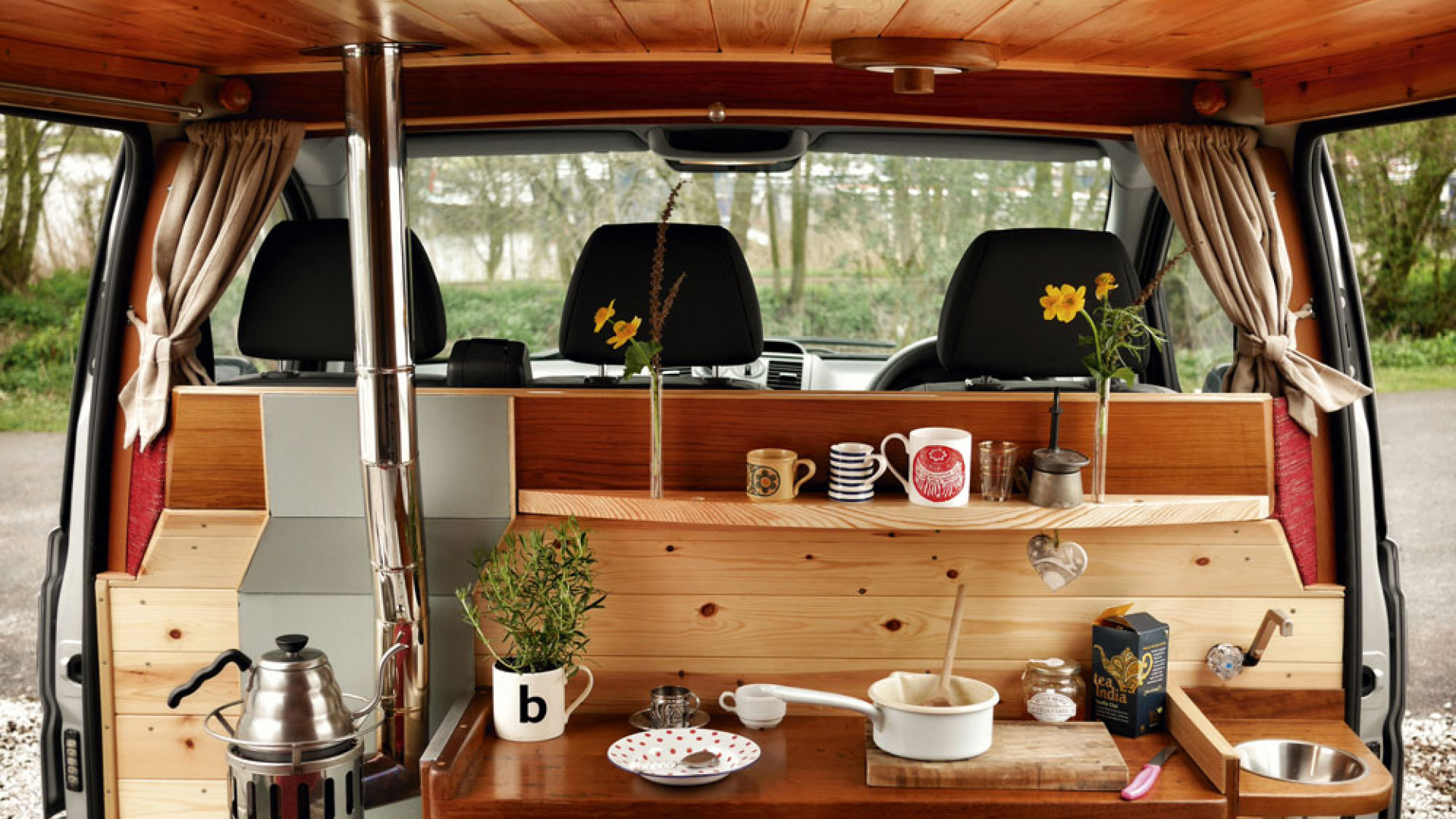 Converted camper van from Quirky Campers