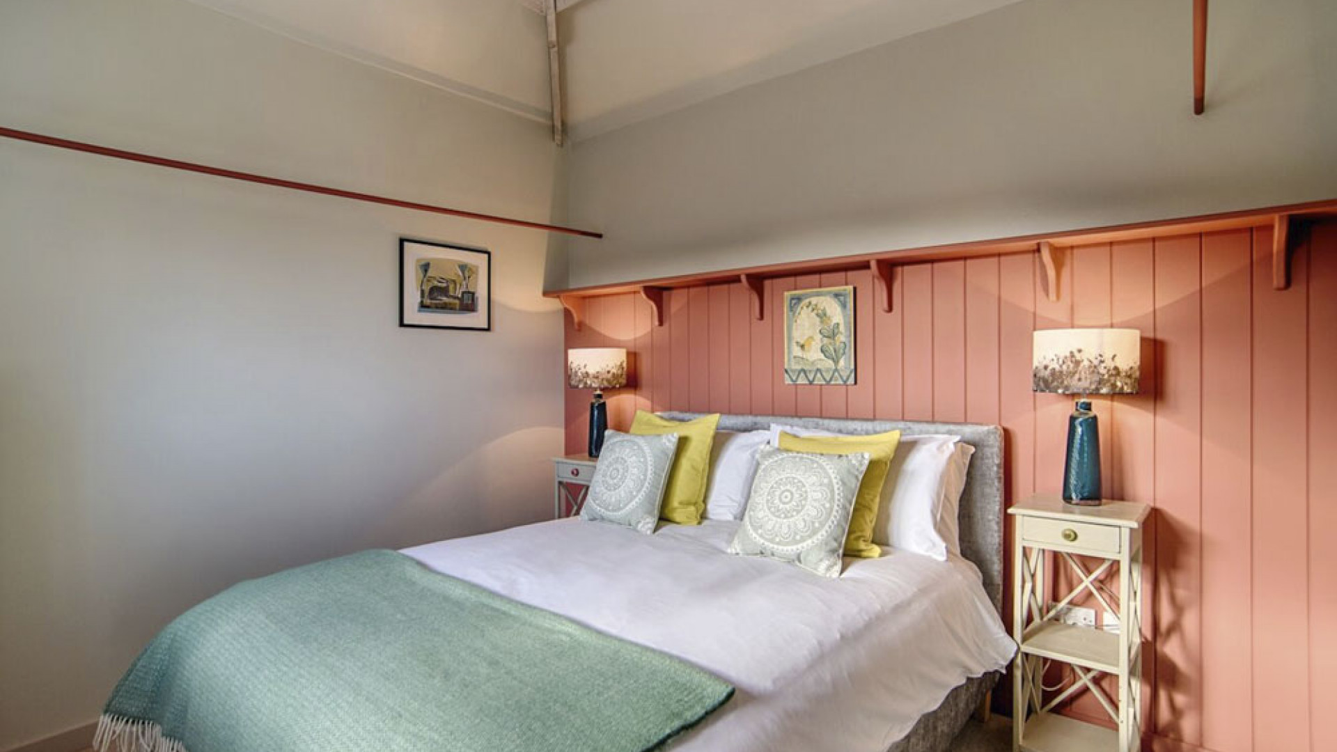 Master bedroom at Barsham Barns, North Norfolk