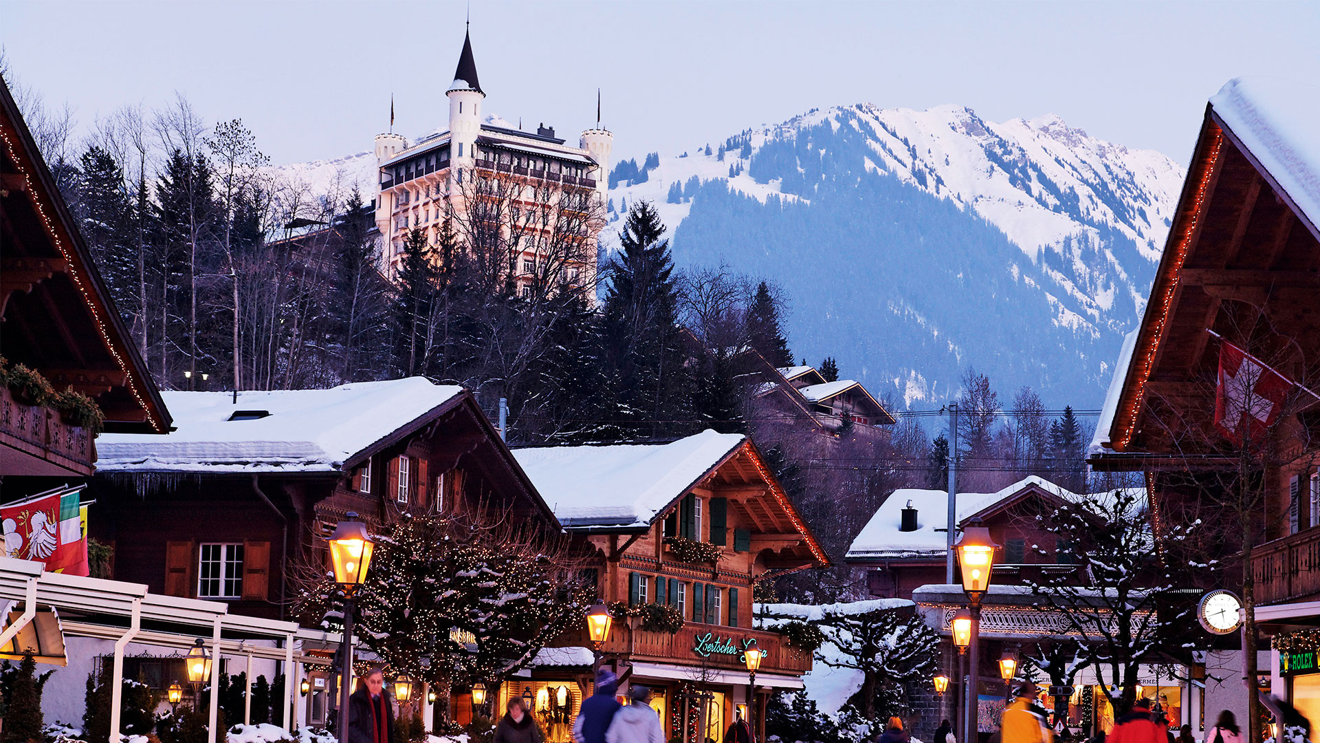 Palace Hotel, Gstaad, Bernese Oberland, Canton of Berne, Switzerland