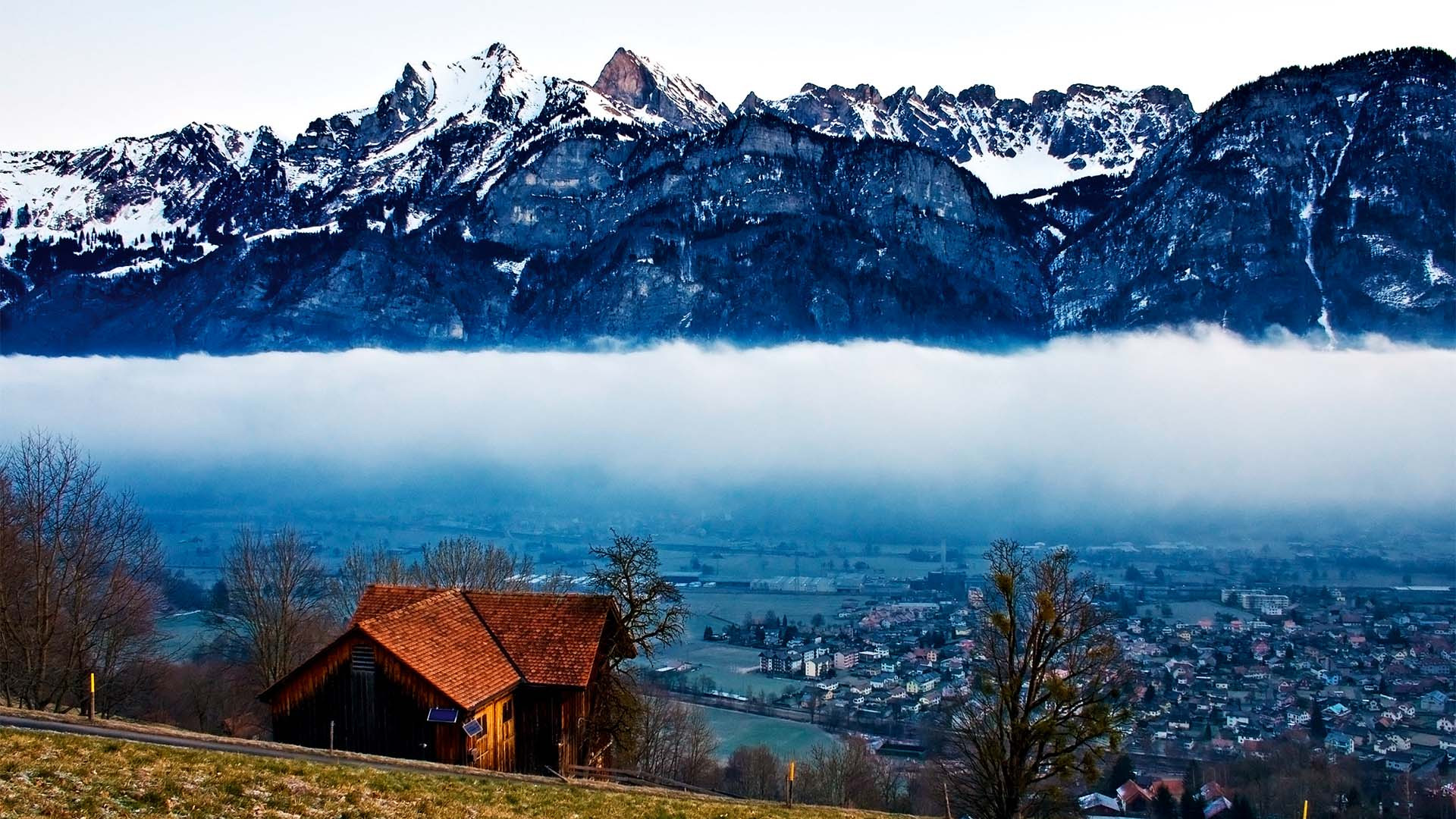 Swiss winter landscape, Gstaad