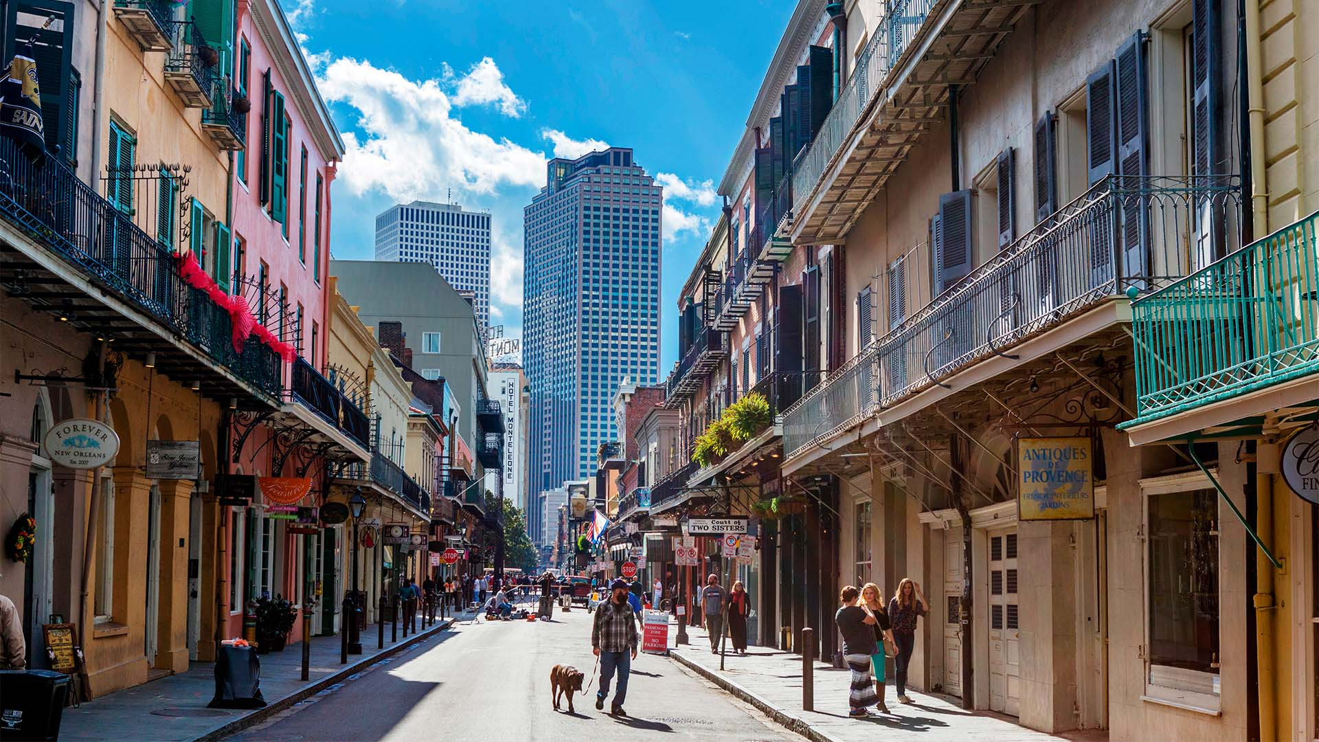 Royal Street looking towards downtown, French Quarter, New Orleans, Louisiana, USA