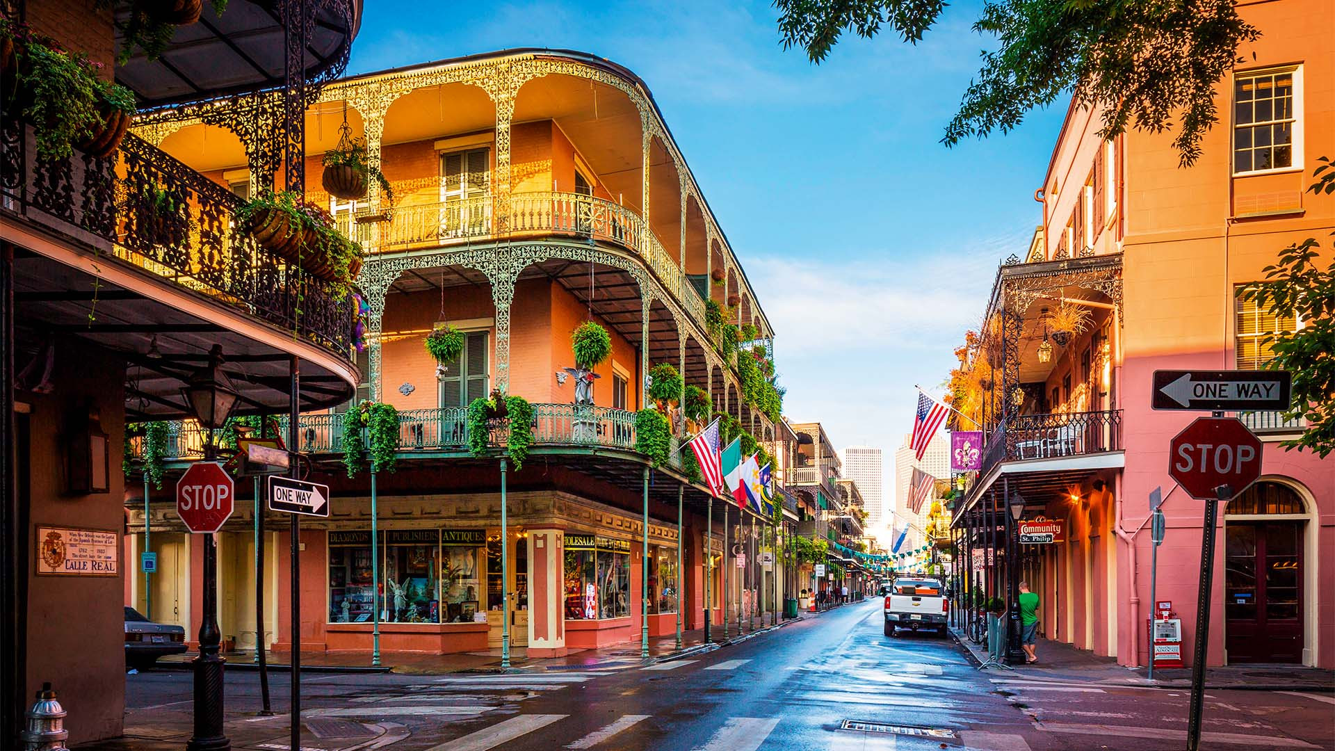 French Quarter area of New Orleans, Louisiana