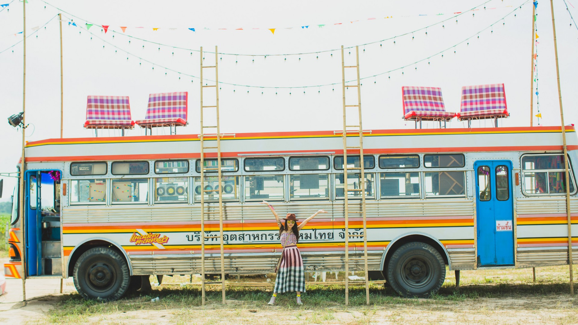 Party bus at Wonderfruit festival