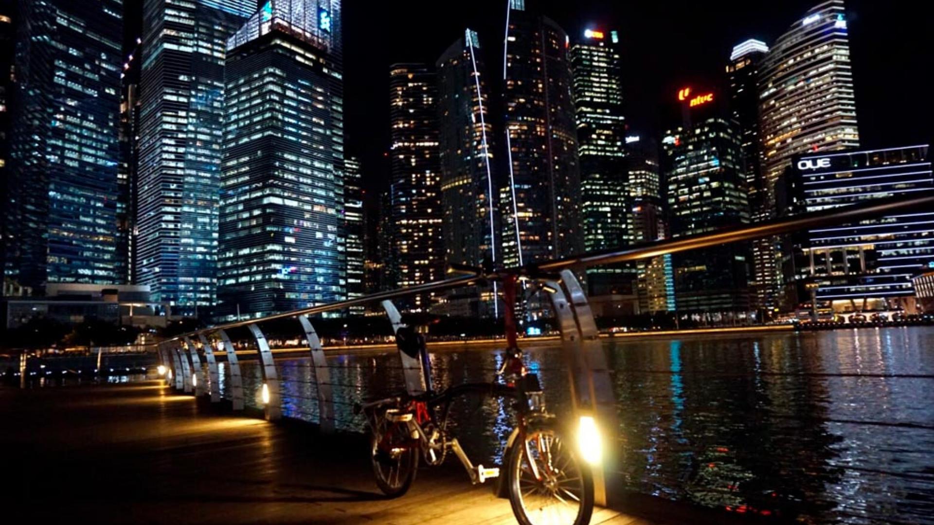 Brompton bike in Singapore