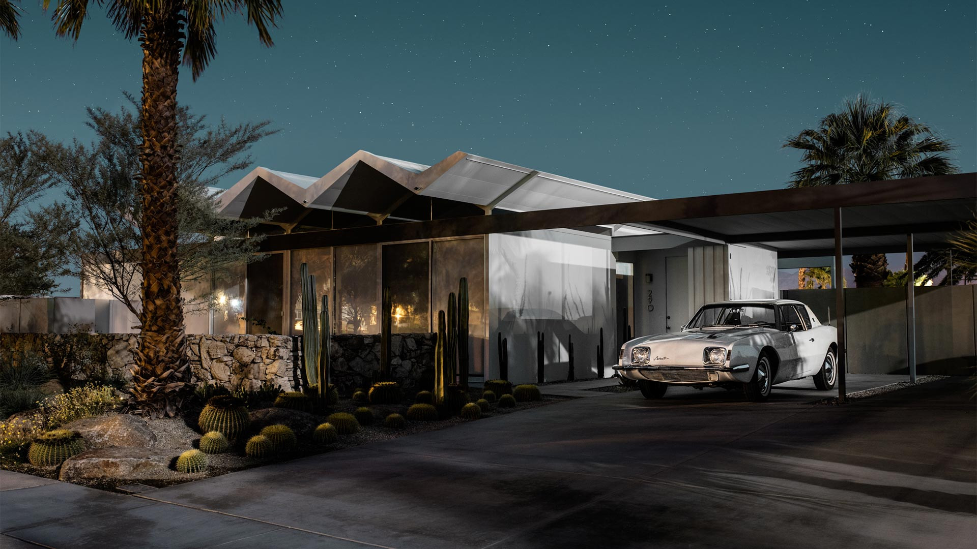 Sutdebaker Avanti outside 290 E Simms Rd, Palm Springs