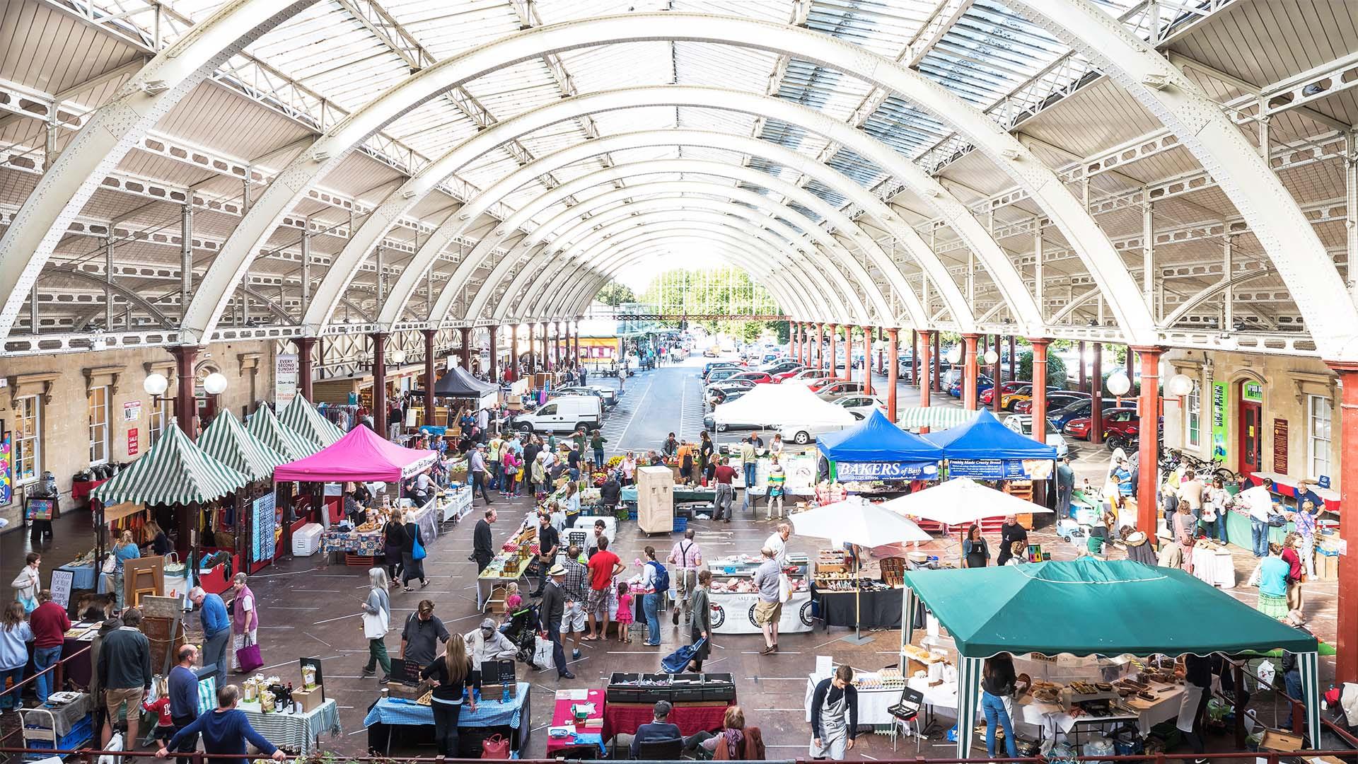 Green Park Station market, Bath Spa