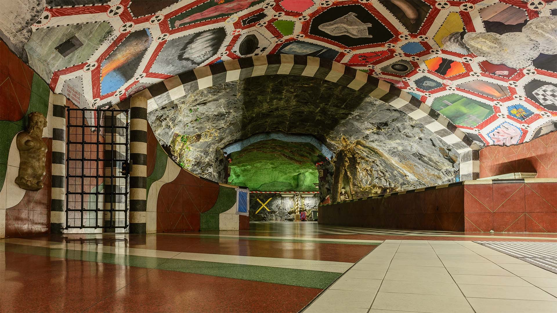 Art at Kungsträdgården station on the Stockholm metro